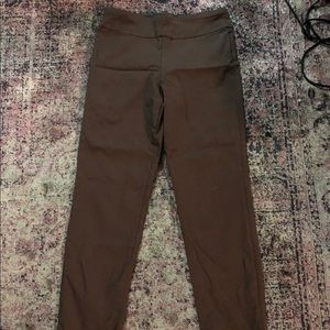 Krazy Larry Cropped Ankle Pant Size 4 Brown